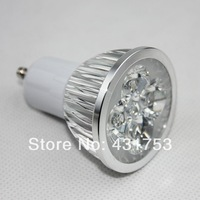 5pcs/lot GU10 12W (4X3W) High power LED spotlight Bulb Lamp Warm white/cold white AC85-265V Free Shipping
