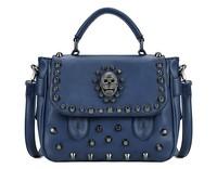 Retro Style 2014 New Women's Shoulder Bags Handbags Sole Rivet Skull PU Shoulder Bag Women Messenger Bag Free Shipping