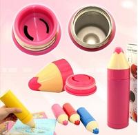 wholesale 50 pcs/lots Stainless steel vacuum cup pencil shape cup colorful portable thermos cup 260ml 13kg/lot 33*33*46cm