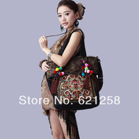 New Arrival & Free shipping! Original style, National trend embroidered bag, handmade messenger bag, canvas bag winter jade