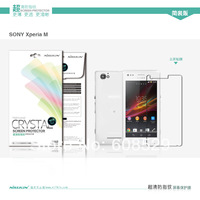 For Sony Xperia M NILLKIN screen protector,Matte OR Super clear HD anti-fingerprint protective film For Sony Xperia M