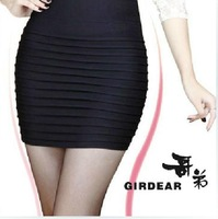 Women's 2014 slim hip skirt elastic short skirt plus size bag skirt step skirt spring and autumn bust skirt