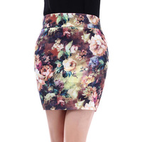 High quality spring 2014 bust skirt floral print short skirt slim hip skirt short skirt spring and summer female skirt fancy