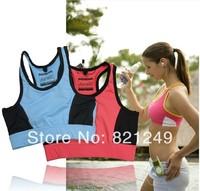 2014 Women cotton spandex yoga fitness sports o-neck vest