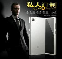 Metal back cover for xiaomi mi3 , Ultrathin Aluminum metal frame Case For Xiaomi Mi3 M3 , free shipping