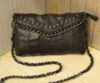 2014 Fashion 100% Genuine Leather sheepskin Bag Women's Bag skull one Shoulder Bag Vintage Handbag