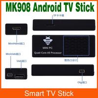 Mk908 Android TV Box Quad Core RK3188 Mini PC Android 4.2 TV Stick Bluetooth Media player XBMC Youtube Full HDMI 1080P 2GB RAM