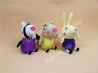 peppa pig 2014 New Peppa pig series Pepe friends 3 stylesPlush Doll Toy retail 3pcs 19CM /7.48 inch