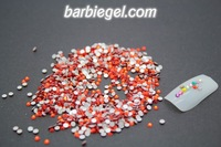 1480pcs/pack  SS6 red 2mm High Shine  Crystal red COLORFUL Nail Art Rhinestones diamond high quality Gross Diamond nail red