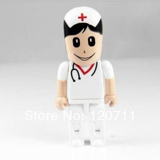 E-DREAM free shipping 4-32GB Cartoon mini White nurse pen toy u disk model USB Flash Drive Thumb Car Pen drive Personality Gift(China (Mainland))
