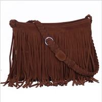 2014 spring fashion knitted tassel women leather handbags cross-body shoulder bags handbags women famous brands bolsas femininas
