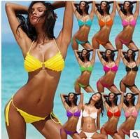 Bikinis Set 2014 Summer women sexy  Flowers Bikini swimwear for women 10 colors