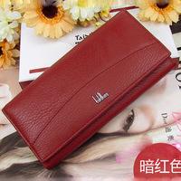 Fashion cow Genuine leather wallet women's wallet Brand clutch long design clip wallet Long Wallets Coin Purse Bag