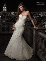 Hot Maternity Bridal Gown Wedding Dresses Sweetheart Applique Lace Ankle Length Handmade Flower