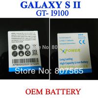 1800mAh OEM Replacement Battery For Samsung Galaxy S 2 S2 S II GT i9100 GT-i9100 Batterie Bateria Batterij Accumulator 2 pcs/lot