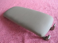 Gray/grey Leather Armrest Console Lid Cover FOR Audi A4 B6 S4 A6 C5 2000-2005