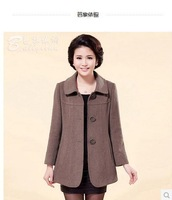 Free shipping ! ! ! 2014 middle-aged mother dress new spring coat woolen coat