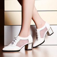 Moolecole 2014 spring pointed toe single shoes gauze breathable women's shoes b612-2