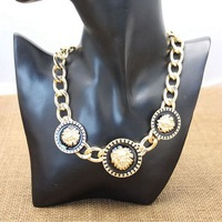 Min Order $10 Retro Jewerly Metal Chain Lion Head Nacklace Women Chunky Necklace