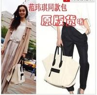 Hot Sale 2014 New Fashion Vintage Europen Canvas Large Smiley Bags Brand Designer high quality portable women's handbag A022