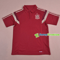 SPAIN WINE RED Top quality football polo shirts casual fashion sports wear Tees free shipping 100% Cotton