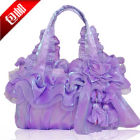 2014 women's fashion handbag bride lace bag portable women's one shoulder cloth bags