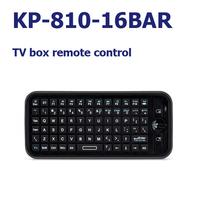 20 pcs/lot iPazzPort Mini Bluetooth Wireless KP-810-16BAR english Keyboard 2.4G RF fly mouse remote Handheld Keyboard for TV BOX
