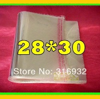 E4 Clear Resealable Cellophane/BOPP/Poly Bags 28*30cm  Transparent Opp Bag Packing Plastic Bags Self Adhesive Seal
