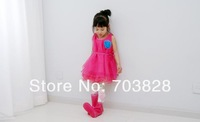 Free shipping Baby girls chiffon summer floral dress Children's floral summer dress Princess tank floral dress