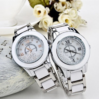 women fashion casual ceramic watch women dress quartz watch ladies white waterproof wristwatch
