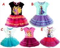 free shipping kid's cartoon summer dress girl's Snow White  girls' wear dress girl's princess dress girl's lovable dress