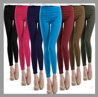 New 2014 Spring Womens Candy Color Rainbow Skinny Slim Fit Fitness Stretchy women's Pencil Pants & Capris Trousers leggings