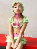 Гидрокостюм для девочек 20pcs Summer Girls Swimwear Fine lace skirt suits cake Bikini Kids Swimsuits Bathers rash guards swim suit