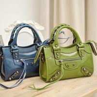 FREE SHIPPING High quality wax cowhide fashion mini motorcycle city bag mini cross-body handbag