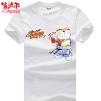 Doraemon classic animation t-shirt male short-sleeve clothes