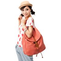 2014 spring double-shoulder women's handbag vintage tassel canvas bag one shoulder casual travel big bag