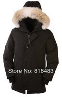 Hot Classic E06 Men's Parka down jacket coat 4cols winter cold Goose warm real raccoon fur christmas gift 4cols free shipping