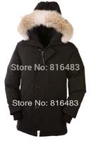 Hot Classic E06 Men's Parka jacket coat 4cols winter cold Goose warm real raccoon fur christmas gift 4cols free shipping