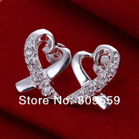 925 silver plated Set sihai with ears&pendant earrings,factory Lowest Wholesale 2014 NEW 925 silver earrings