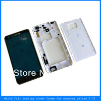 White Full Housing Cover Middle Frame Back Door Case For Samsung Galaxy S2 i9100 free shipping