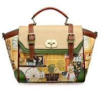 New  2014 women messenger bag british style handbag,genuine leather bag,women leather handbag one shoulder travel free shipping
