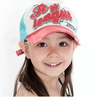 2014 Summer paragraph of child mesh cap duckbill cap baseball cap