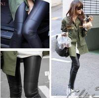New Design 1pc Sexy Black Women Faux Leather Gothic Punk Leggings Pants Trousers Girl Leggings