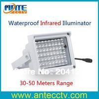Free Shipping Outdoor Waterproof 54pcs IR Leds CCTV Security 850nm Wavelength light illuminator 12 Volt 50 meters IR Range