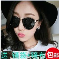 Round sunglasses vintage sunglasses  women's fashion star style metal glasses