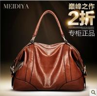 Fashion genuine leather 2013 oil waxing women's leather fashion handbag casual handbag large bag d55