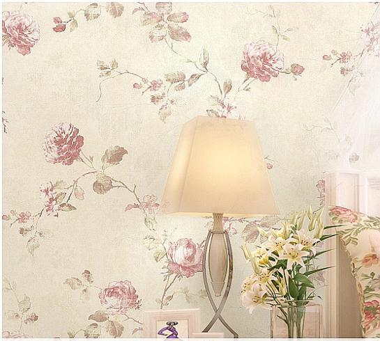 Slaapkamer Behang Romantisch : Rustic Pink Flower Background
