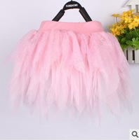 Free Shipping Casual Rayon Girls Skirt Baby Tutu Skirt Princess Fluffy Pettiskirts  Mini Skirt  Red/Pink/Black Pleated skirt