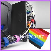 10 pcs / lot Multifunction Reusable Cable Tie Nylon Strap Power Wire Management Computer TV