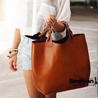 One shoulder big bags 2012 genuine leather fashion vintage fashion women's handbag messenger bag shopping bag
